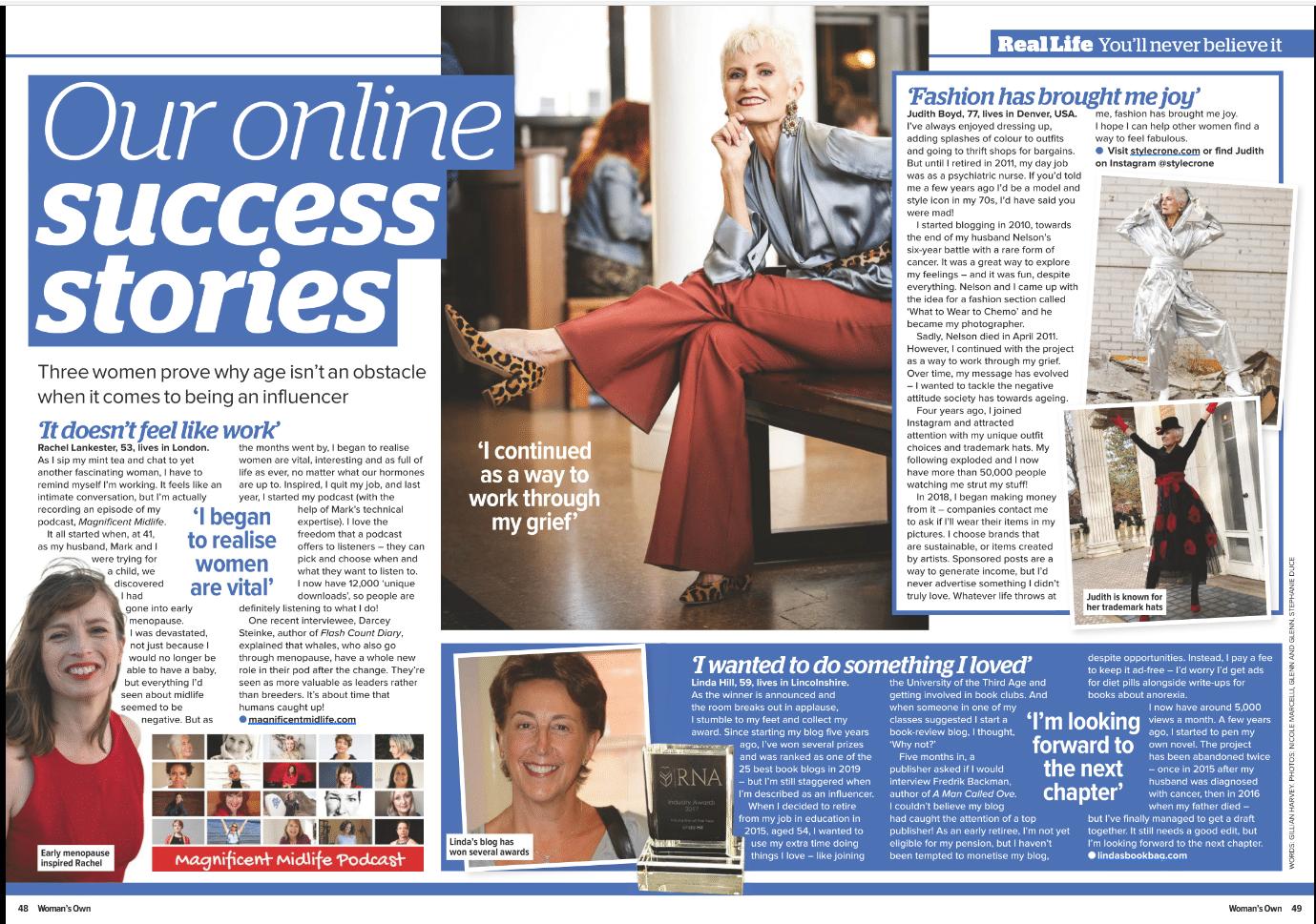 Woman's Online Success Stories