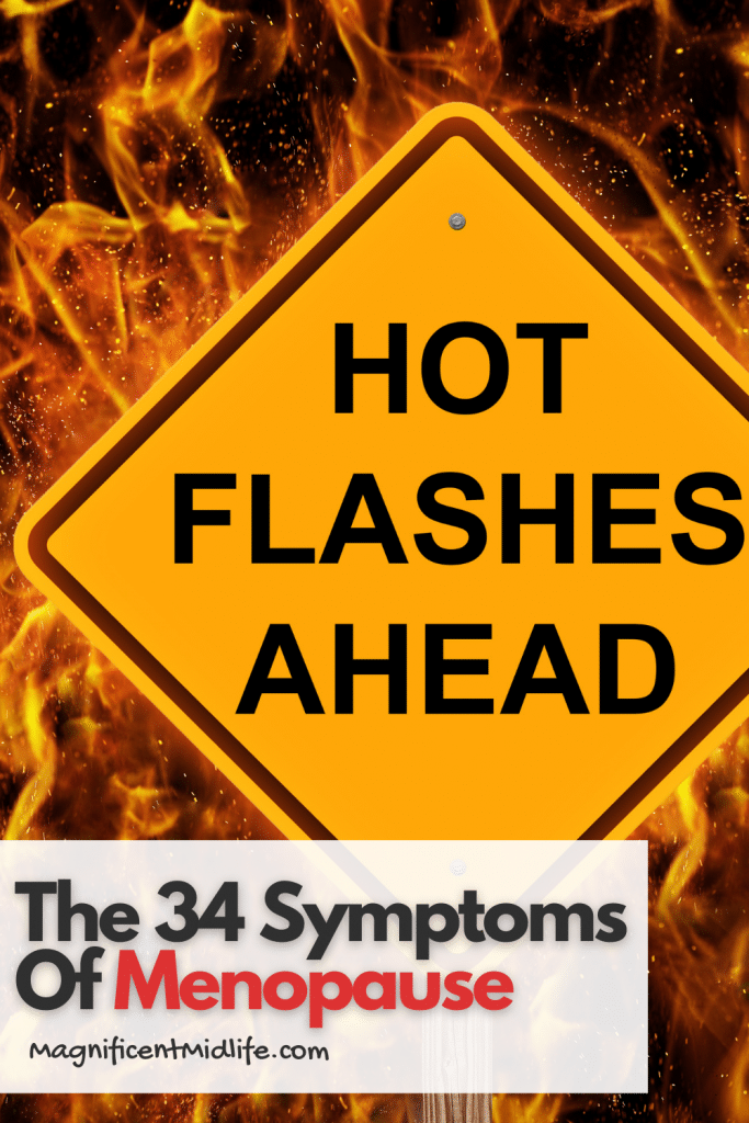 34 symptoms of menopause