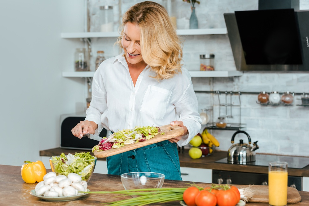 hormone balancing diet woman cooking